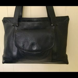 HARTMANN Large Leather Tote Business Overnigt Bag